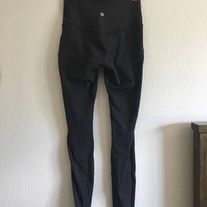 lululemon full length leggings with mesh detailing